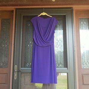 Tiana B USA made purple knit dress w/roushing